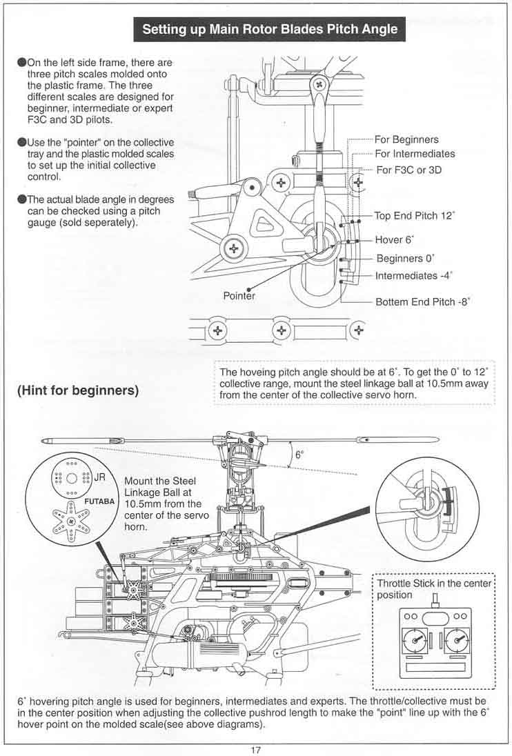 Robins Hobby Raptor 30 50 Manual Pushrod Engine Diagram Page 19 Settings For 3d Updated 20 Throttle Control Linkage 21 Flight Training Coverpage